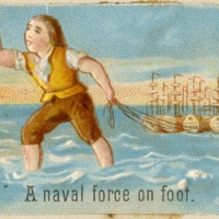 A naval force on foot.