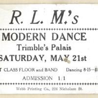 R.L.M.'s modern dance, 21st May