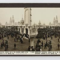 Coronation Festivities, General view of the colonial court of the coronation exhibition on the opening day