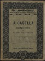 Concerto per due violini, viola e violoncello / Alfredo Casella