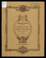 Vedic hymns : for solo voice and piano (second set), op. 24 / Gustav Holst