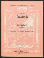 Quintet in F minor : for piano, two violins, viola and cello / Cesar Franck