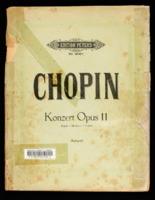 Konzert für Pianoforte / Frédéric Chopin, arranged Adolf Ruthardt