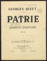 Patrie : dramatic overture / Georges Bizet ; Arranged by Edward Flament