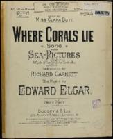 Where corals lie / Edward Elgar, words by Richard Garnett
