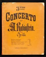 3 ième concerto, op. 45 : pour deux pianos à quatre mains / Anton Rubinstein