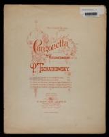 Canzonetta aus dem Violin - concert / Peter Ilich Tchaikovsky