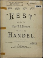 Rest / George Frideric Handel, words by Thomas Edward Brown