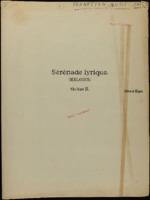 Serenade lyrique : (melodie) / Edward Elgar