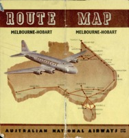 Australian National Airways route map: Melbourne to Hobart