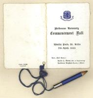 Melbourne University commencement ball, 7th April 1933