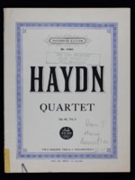 Quartet op. 64, no. 3 : for two violins, viola & violoncello / Joseph Haydn