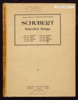 Selected songs / Franz Schubert