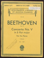 Concerto no. V : for the piano / Ludwig van Beethoven