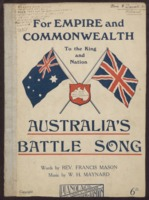Australia's battle song / words by Francis Mason ; music by W. H. Maynard