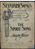 The spirit song / Joseph Haydn, edited by Edgardo Levi