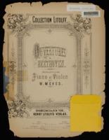 Ouvertures de Beethoven / Ludwig van Beethoven, arranged W. Meves