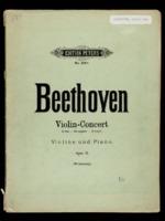 Concerto und Romanzen fur violine / Ludwig van Beethoven, edited by August Wilhelmj