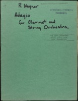 Adagio for clarinet and string orchestra / Richard Wagner