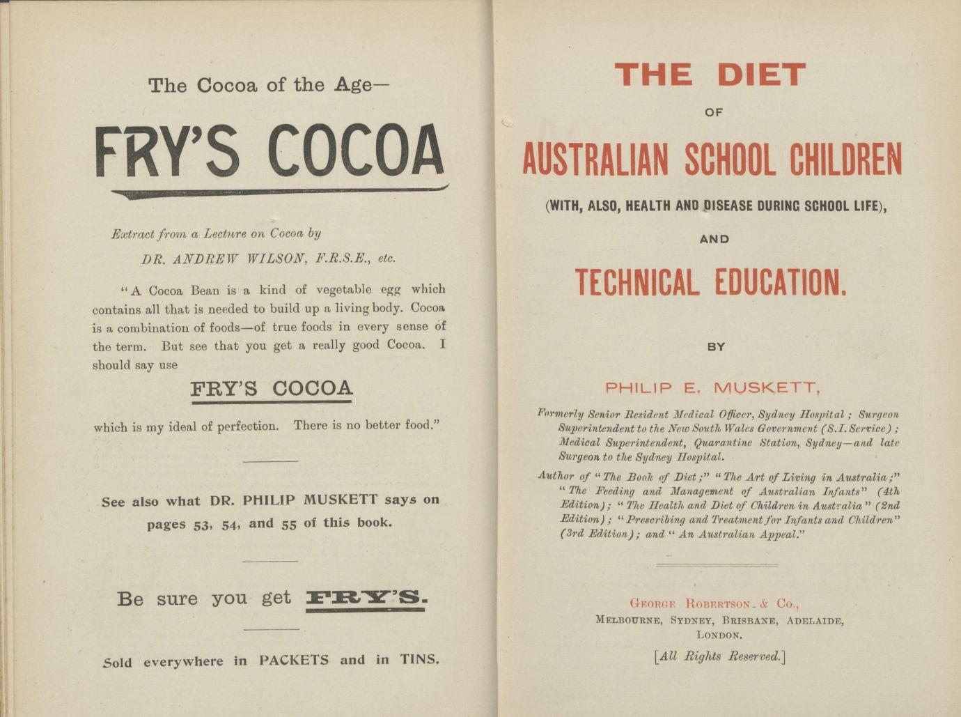 The Diet of Australian School Children