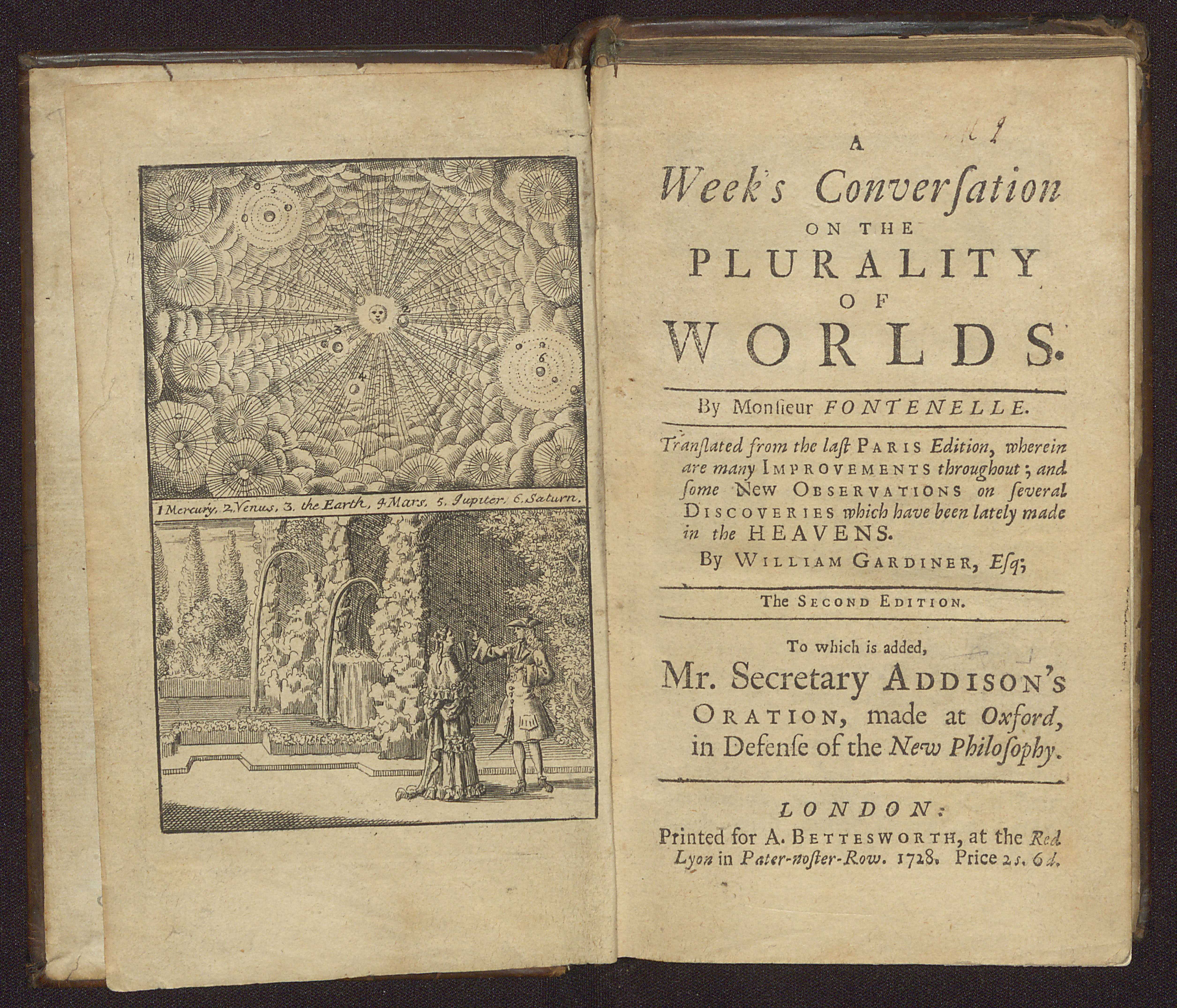 Bernard Le Bovier de Fontenelle's Pluralité des Mondes