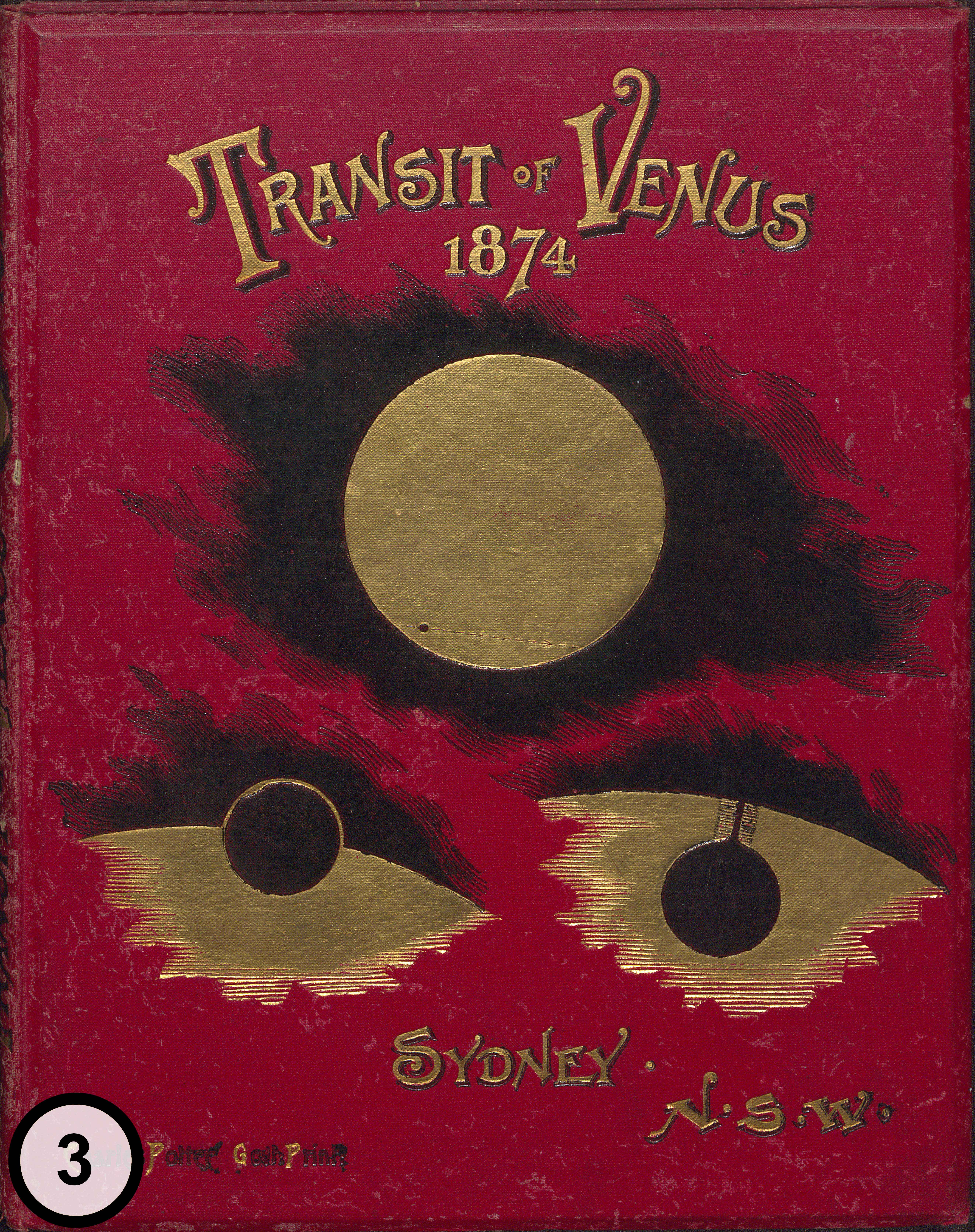 Henry Chamberlain Russell's Observations on the Transit of Venus, front cover