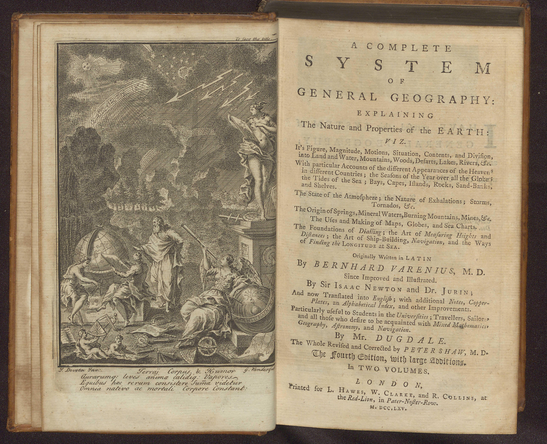 Bernhardus Varnius' A Compleat System, frontispiece
