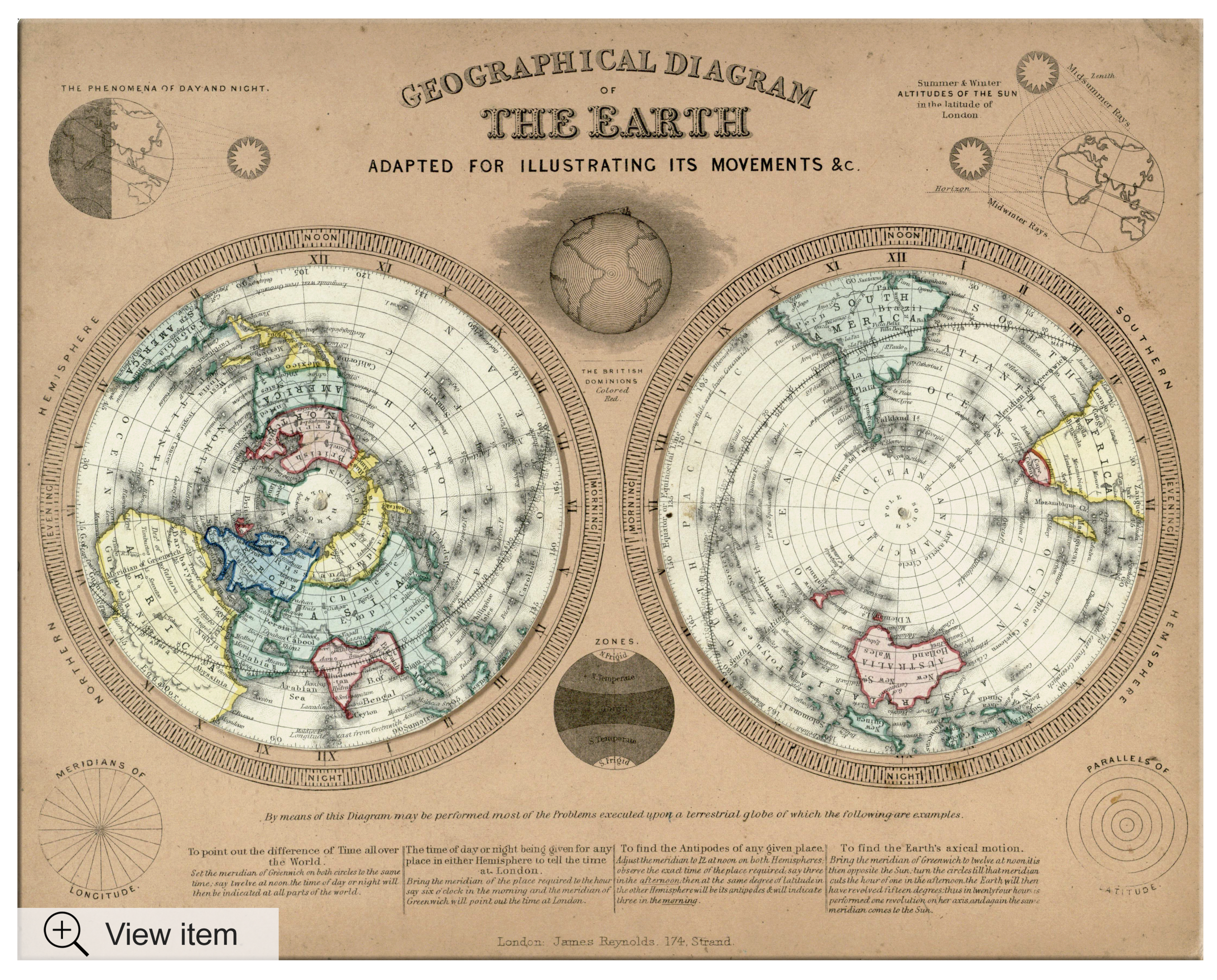 John Emslie's Geographical diagram of the earth adapted for illustrating its movements & c.